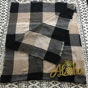 Flannel Blanket Scarf